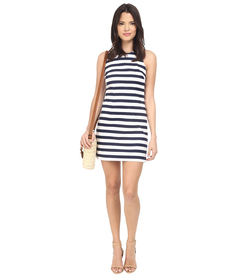 BB Dakota Robinson Stripe Cut Out Back Dress (Navy) Women