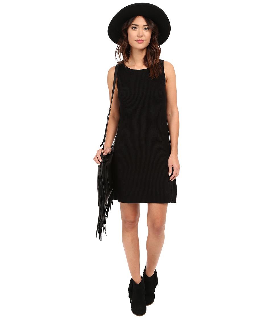 BB Dakota - Alexa Zip Side Sweater Dress (Black) Women's Dress