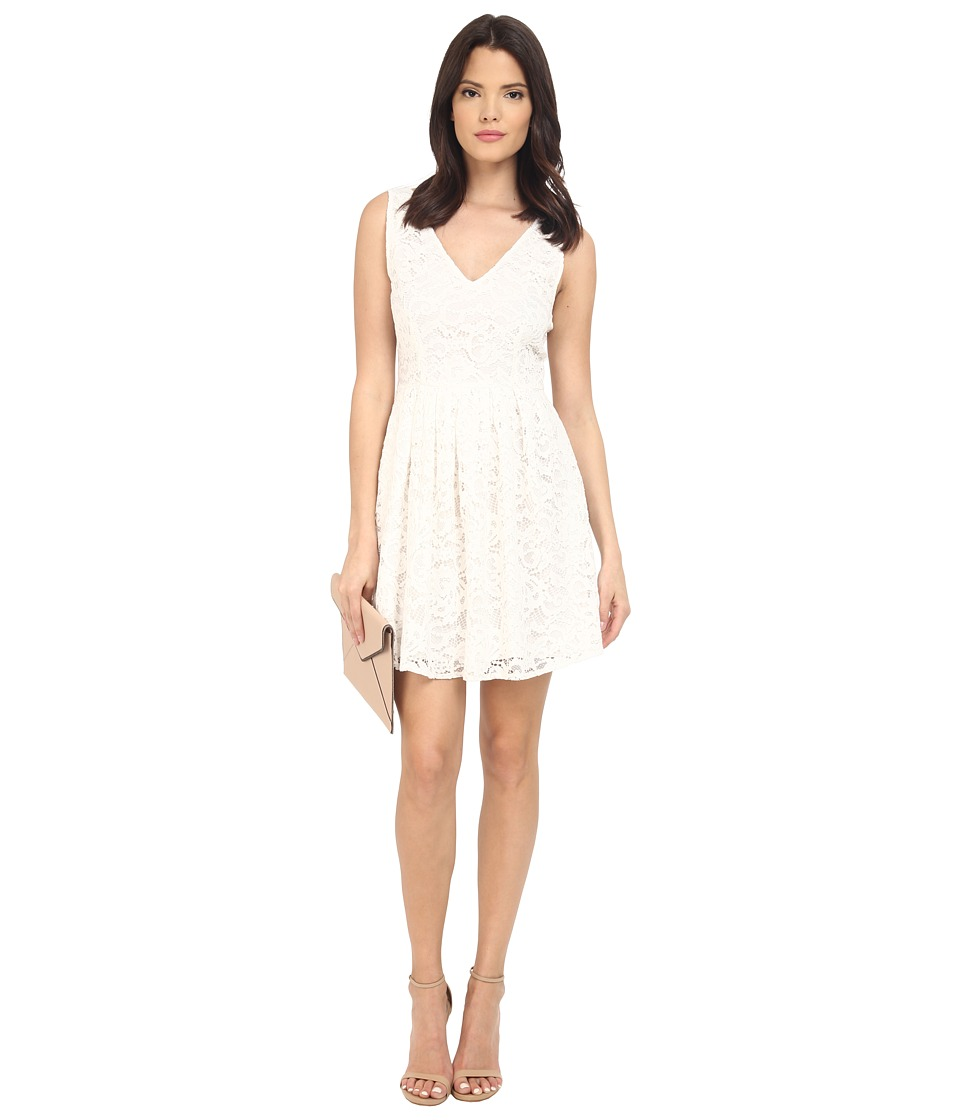 BB Dakota Kerry Lace V-Neck Dress (Ivory) Women