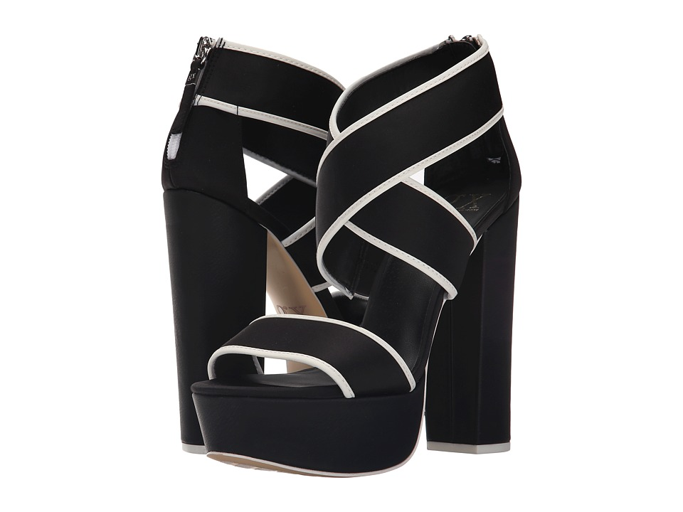 GX By Gwen Stefani - Macayla (Black/White Neoprene/Twill) High Heels