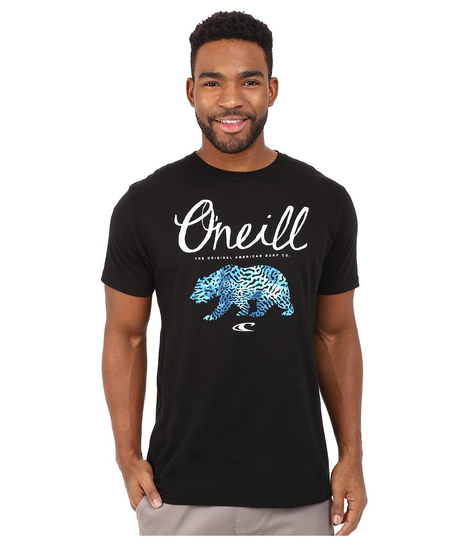 O'Neill - Ferns Short Sleeve Screen Tee (Black) Men's Short Sleeve Pullover