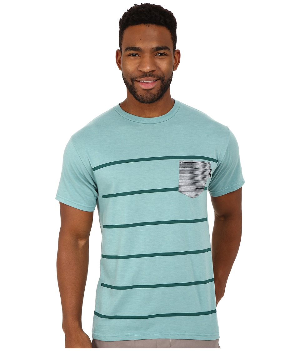 O'Neill - Vals Short Sleeve Screen Tee (Turquoise Heather) Men's Short Sleeve Pullover