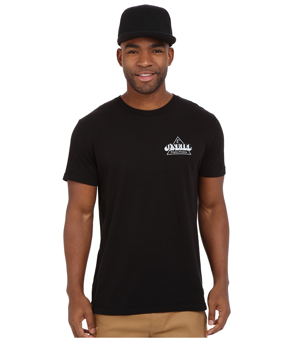 O'Neill - Mongoose Short Sleeve Screen Tee (Black) Men's Short Sleeve Pullover