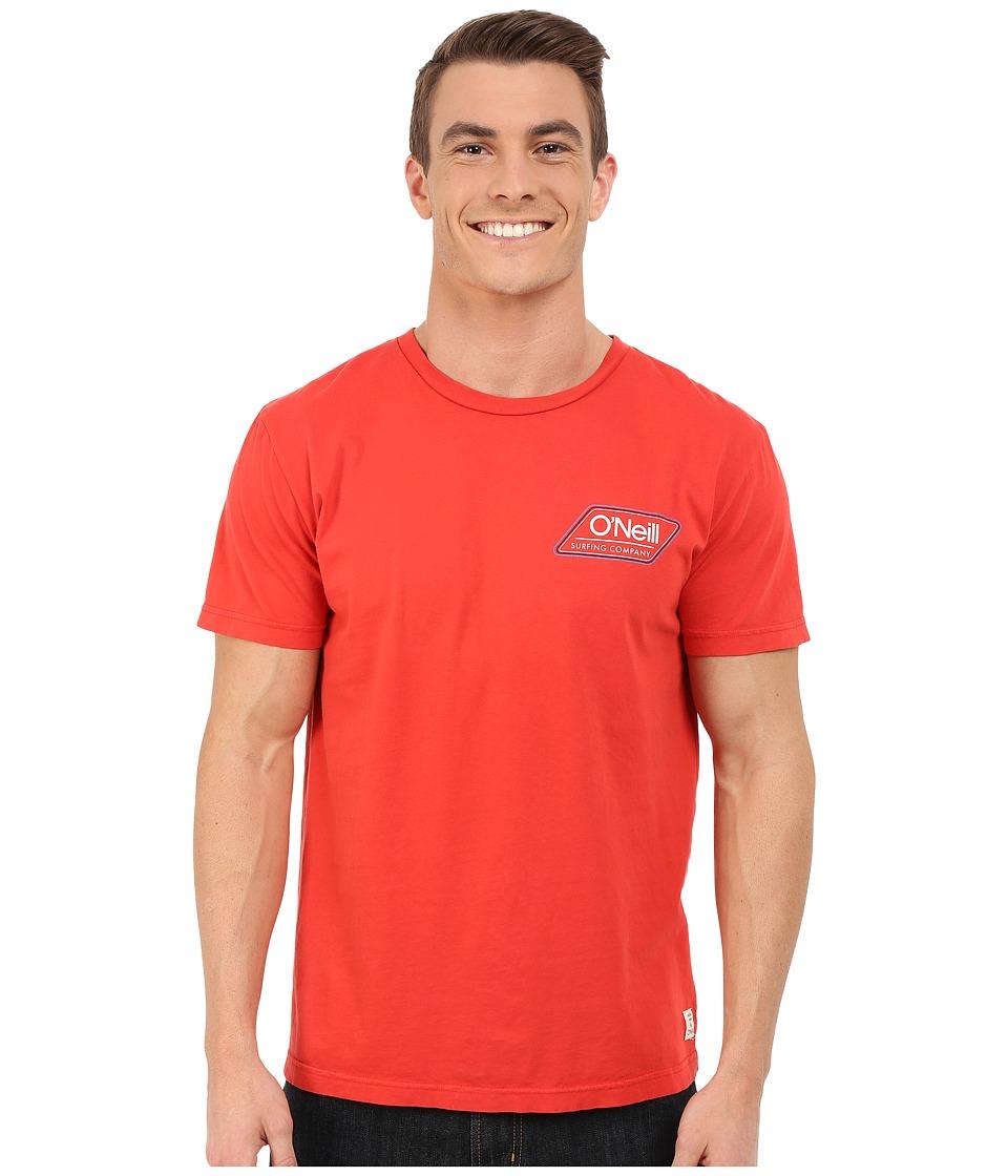 O'Neill - Challenger Short Sleeve Screen Tee (Red) Men's Short Sleeve Pullover