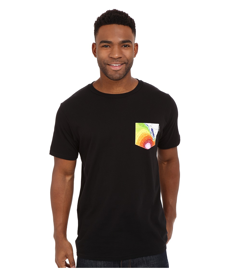 O'Neill - Sparks Short Sleeve Screen Tee (Black) Men's Short Sleeve Pullover
