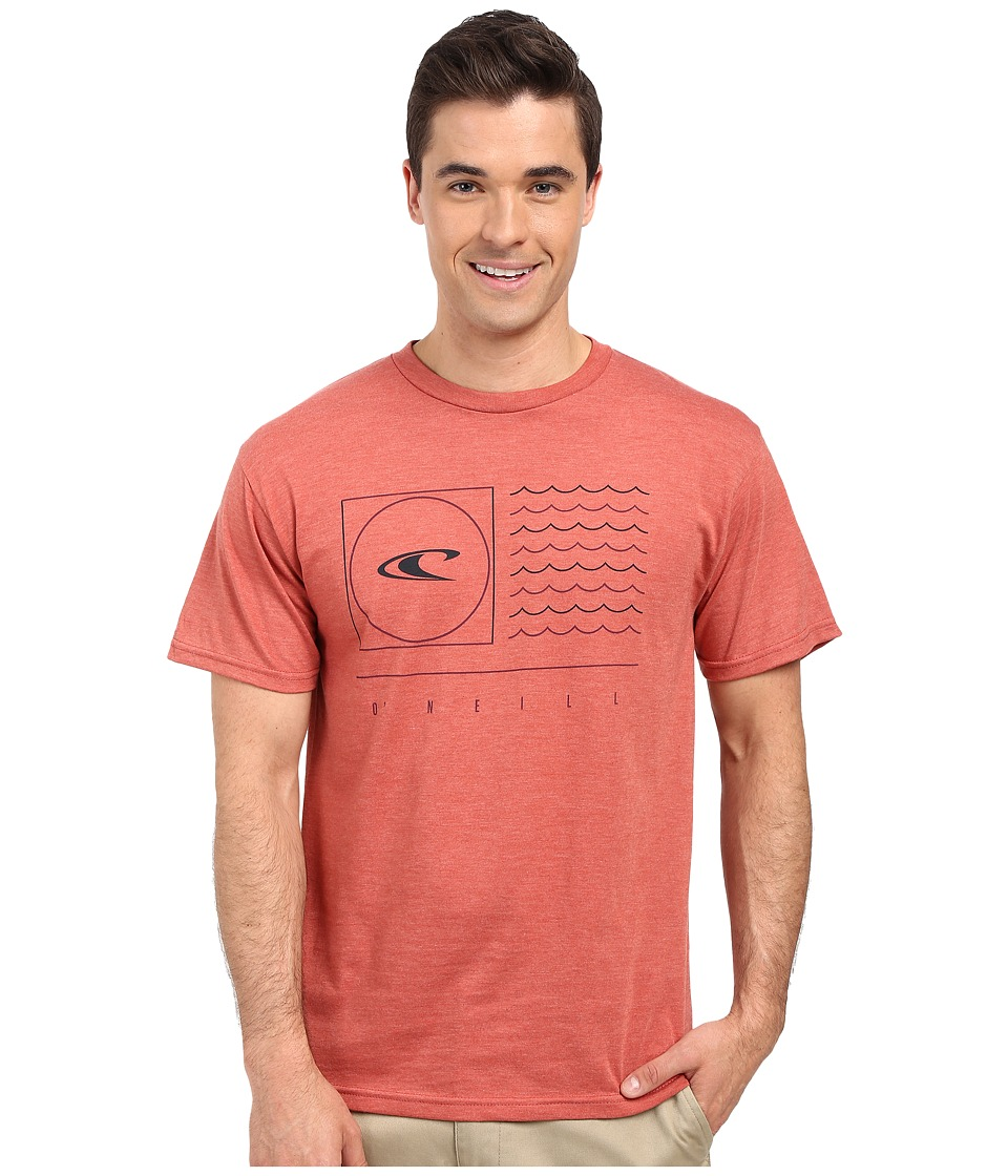 O'Neill - Illusion Short Sleeve Screen Tee (Spice Heather) Men's T Shirt