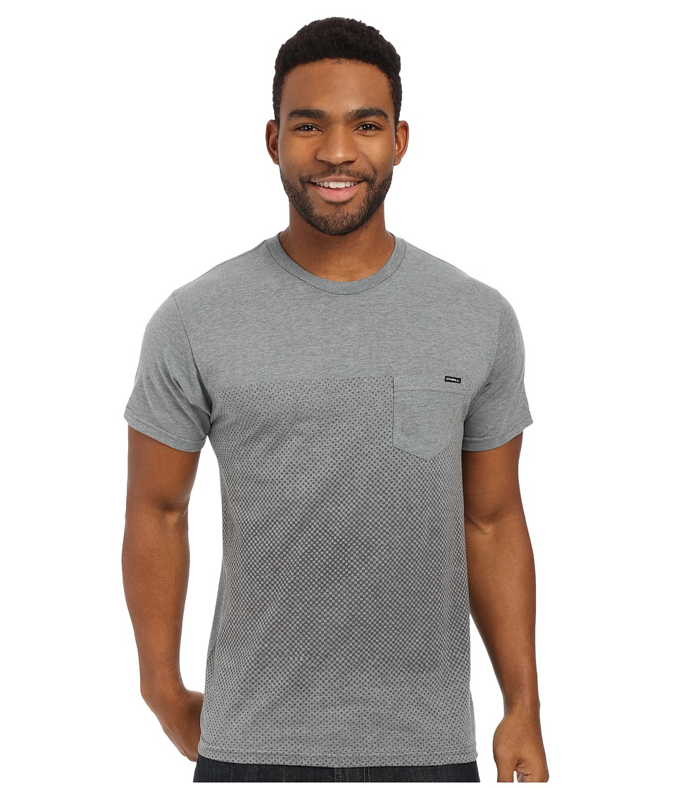 O'Neill - Offset Short Sleeve Screen Tee (Medium Heather Grey) Men's Short Sleeve Pullover