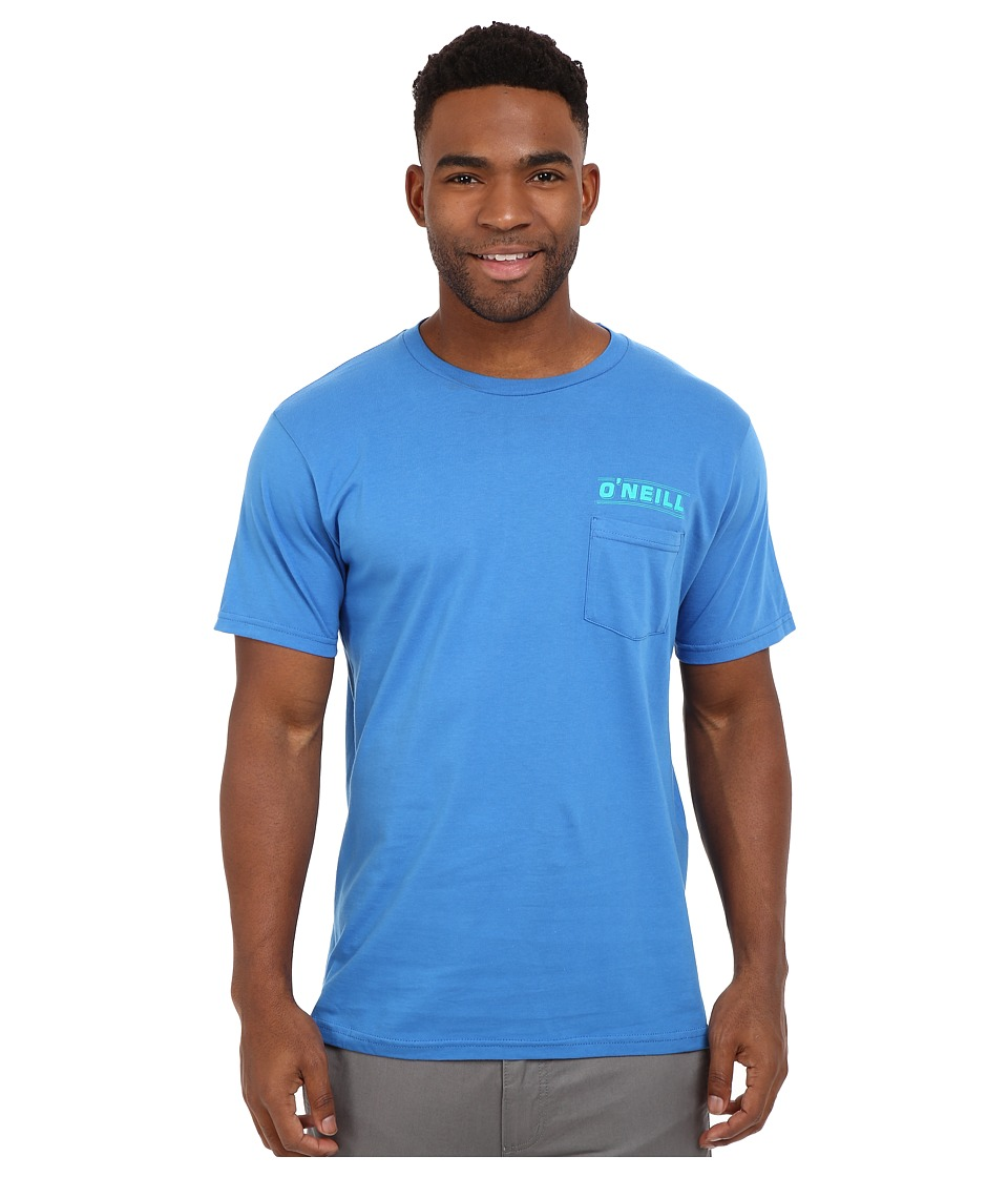 O'Neill - Last Days Short Sleeve Screen Tee (Brilliant Blue) Men's Short Sleeve Pullover