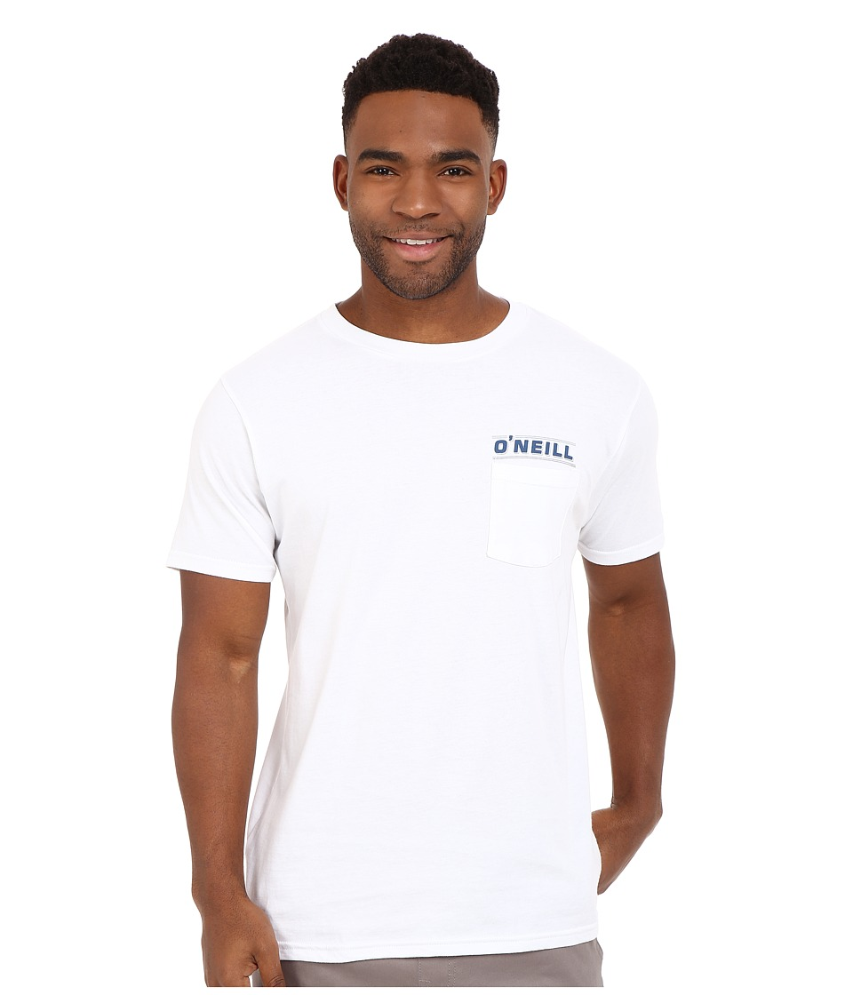 O'Neill - Last Days Short Sleeve Screen Tee (White) Men's Short Sleeve Pullover