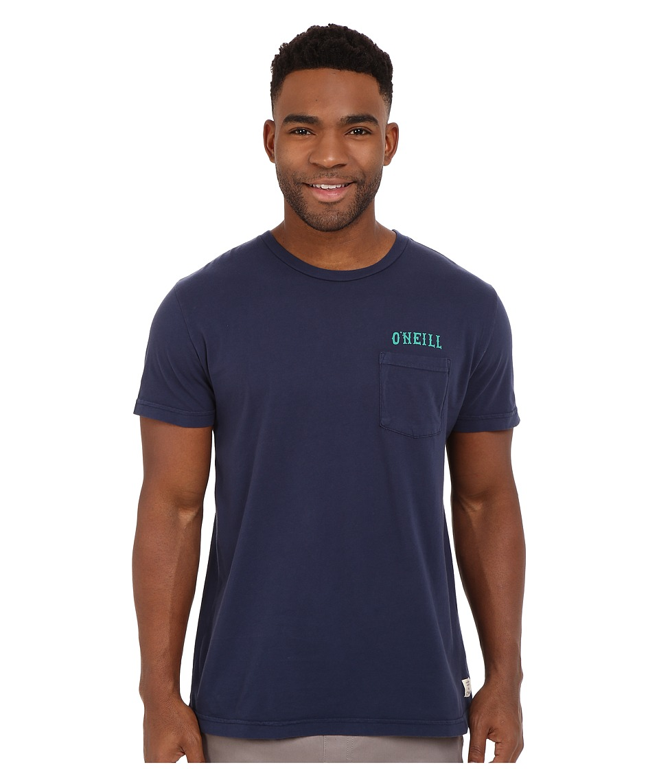 O'Neill - Whatever Short Sleeve Screen Tee (Dark Indigo) Men's Short Sleeve Pullover