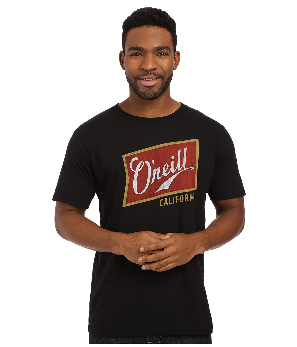 O'Neill - Foamy Short Sleeve Screen Tee (Black/Red) Men's T Shirt