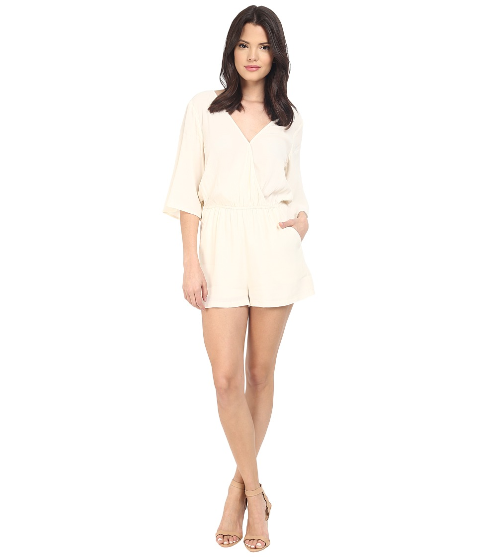 BB Dakota - Shania Flutter Sleeve Crepe De Chine Romper (Vanilla) Women's Jumpsuit & Rompers One Piece