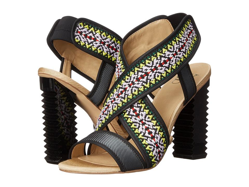 GX By Gwen Stefani - Madison (Black Multi Ballistic/Twill) High Heels