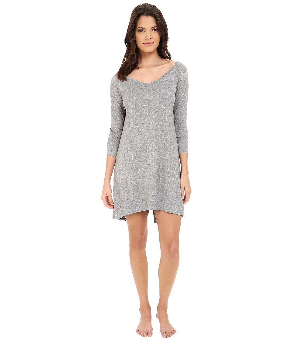 Splendid - Split-Hem Sleepshirt (Medium Marled Grey Heather) Women