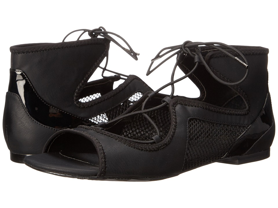 GX By Gwen Stefani Munich Black-Black Neoprene-Mesh Womens Sandals