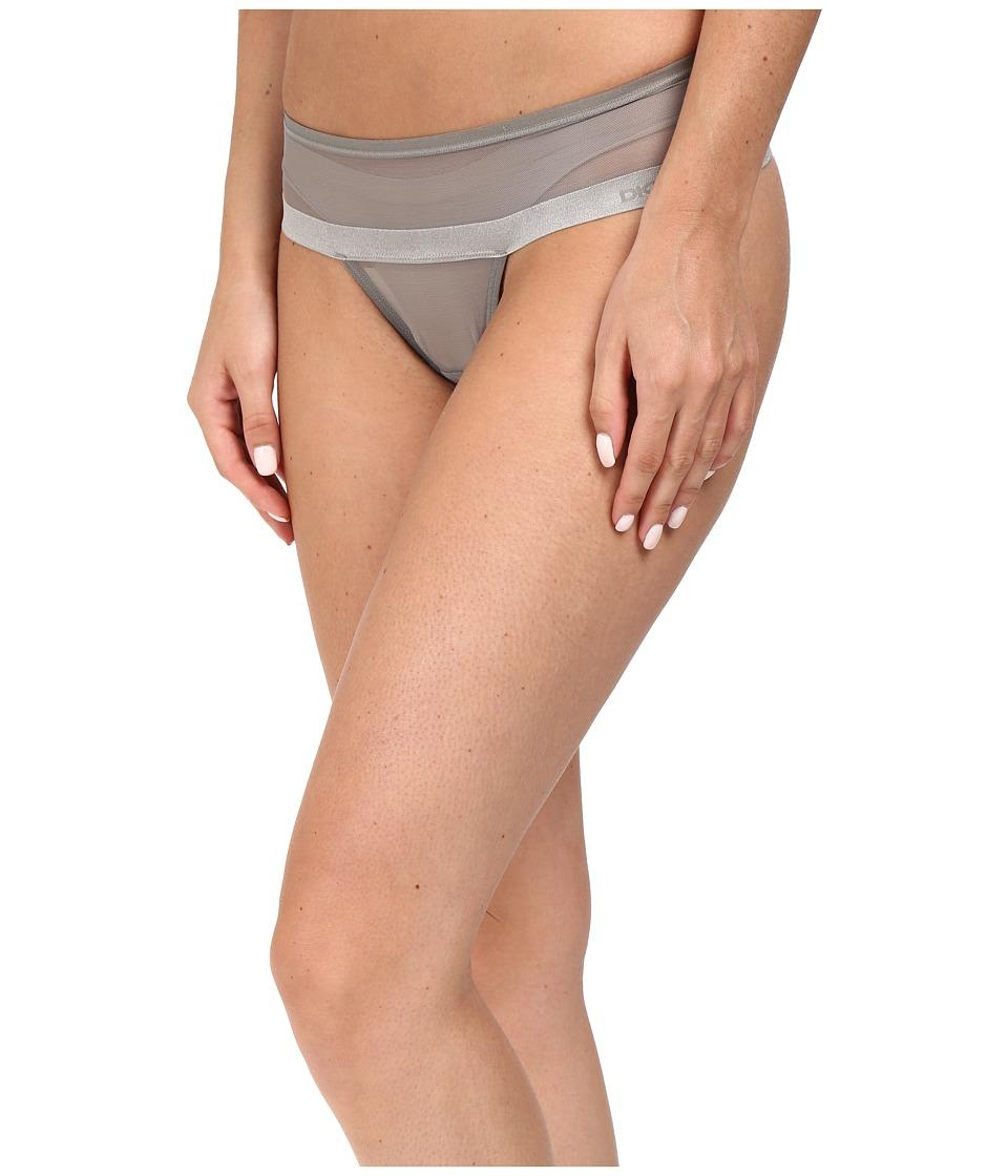 DKNY Intimates - Mesh Thong DK2000 (Ash Green) Women's Underwear
