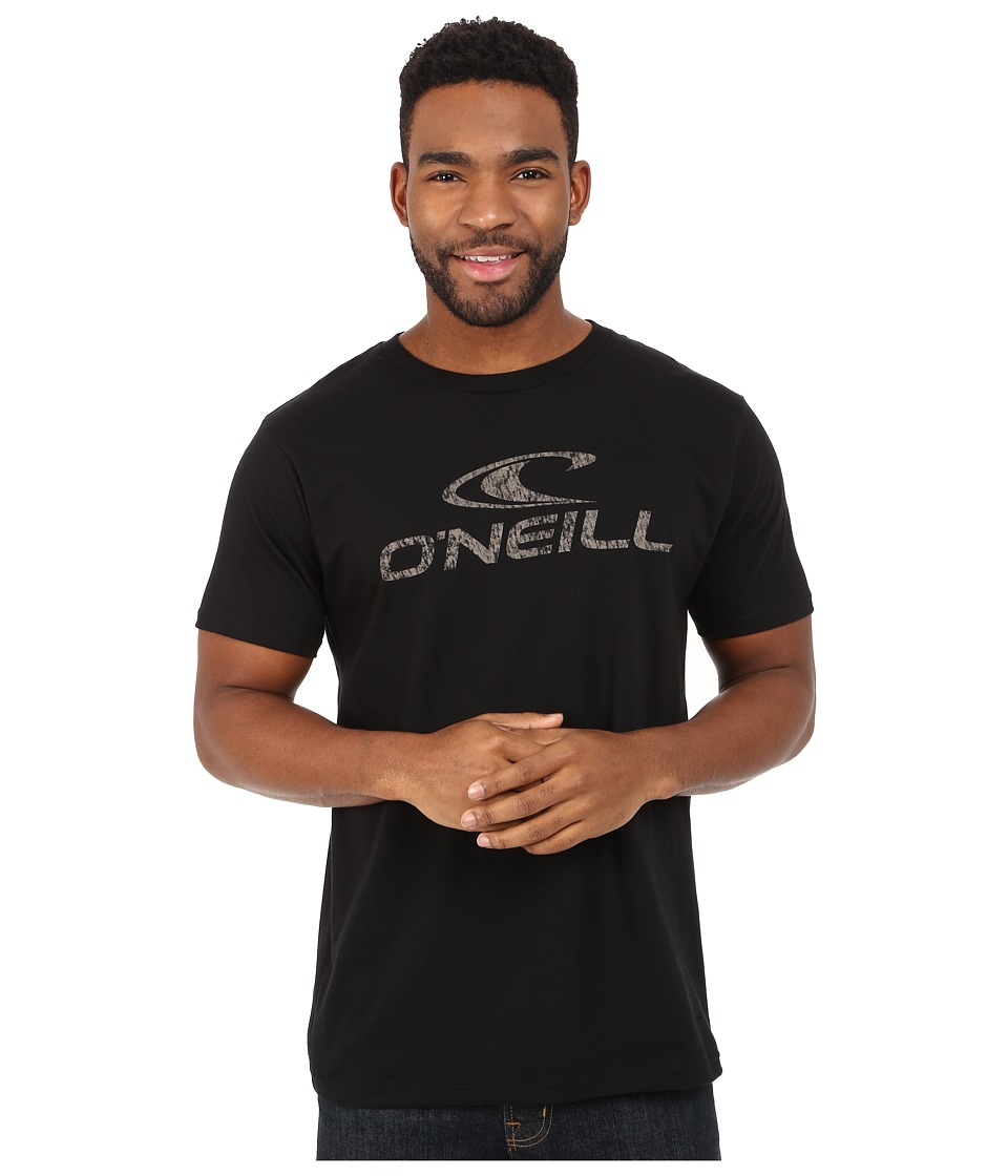 O'Neill - Supreme Short Sleeve Screen Tee (Black) Men's Short Sleeve Pullover
