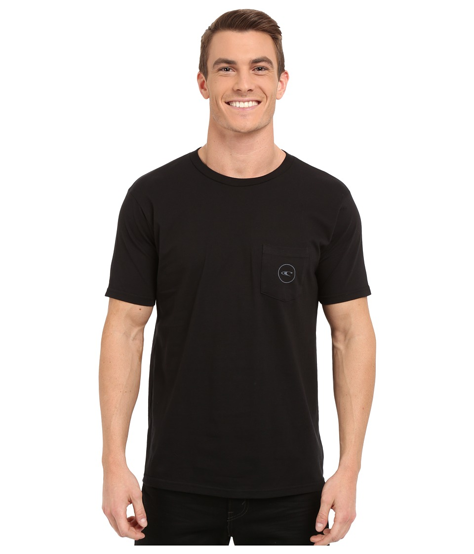 O'Neill - Jams Short Sleeve Screen Tee (Black) Men's Short Sleeve Pullover