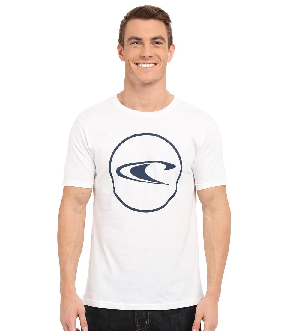 O'Neill - Ringside Short Sleeve Screen Tee (White) Men's T Shirt