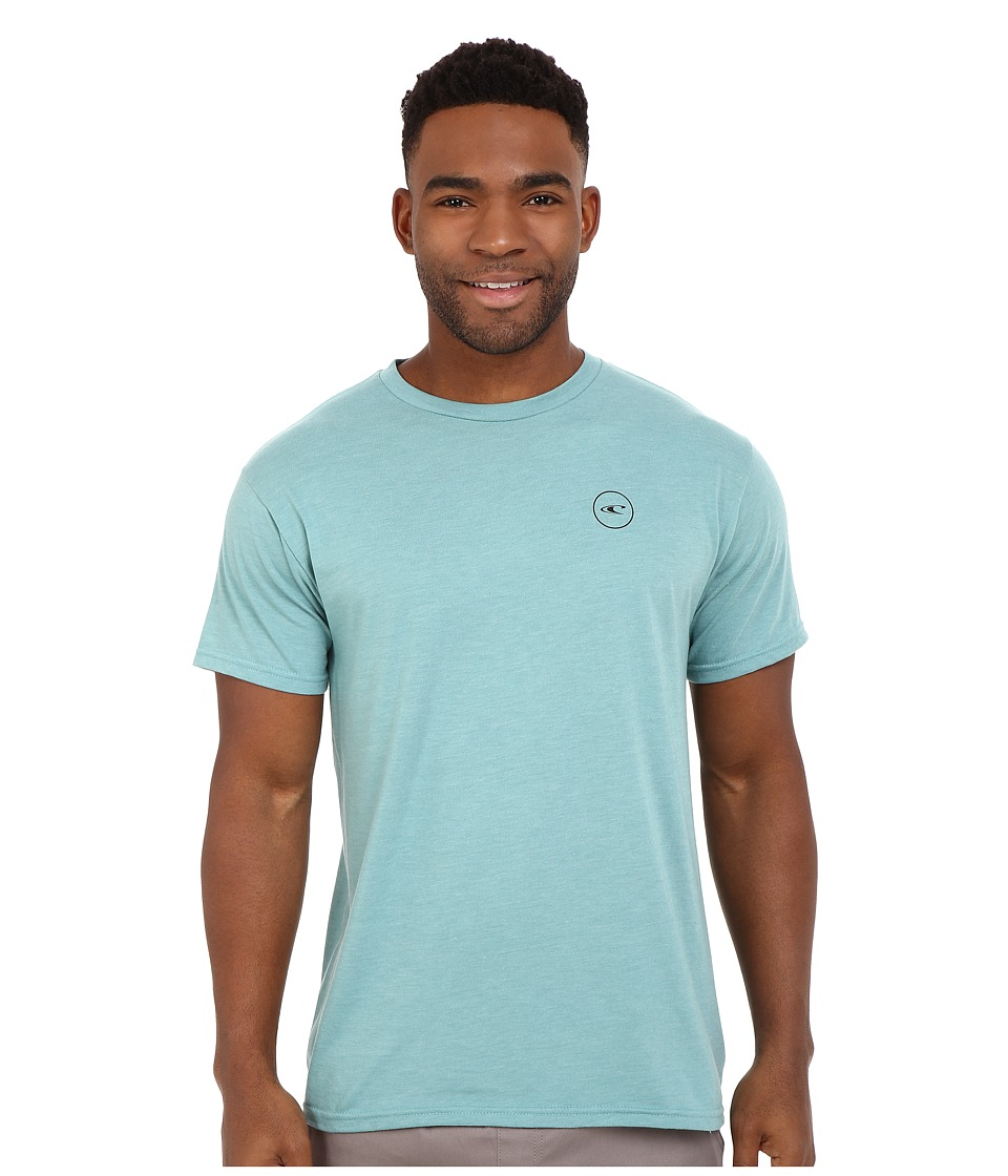O'Neill - Turner Short Sleeve Screen Tee (Turquoise Heather) Men's Short Sleeve Pullover