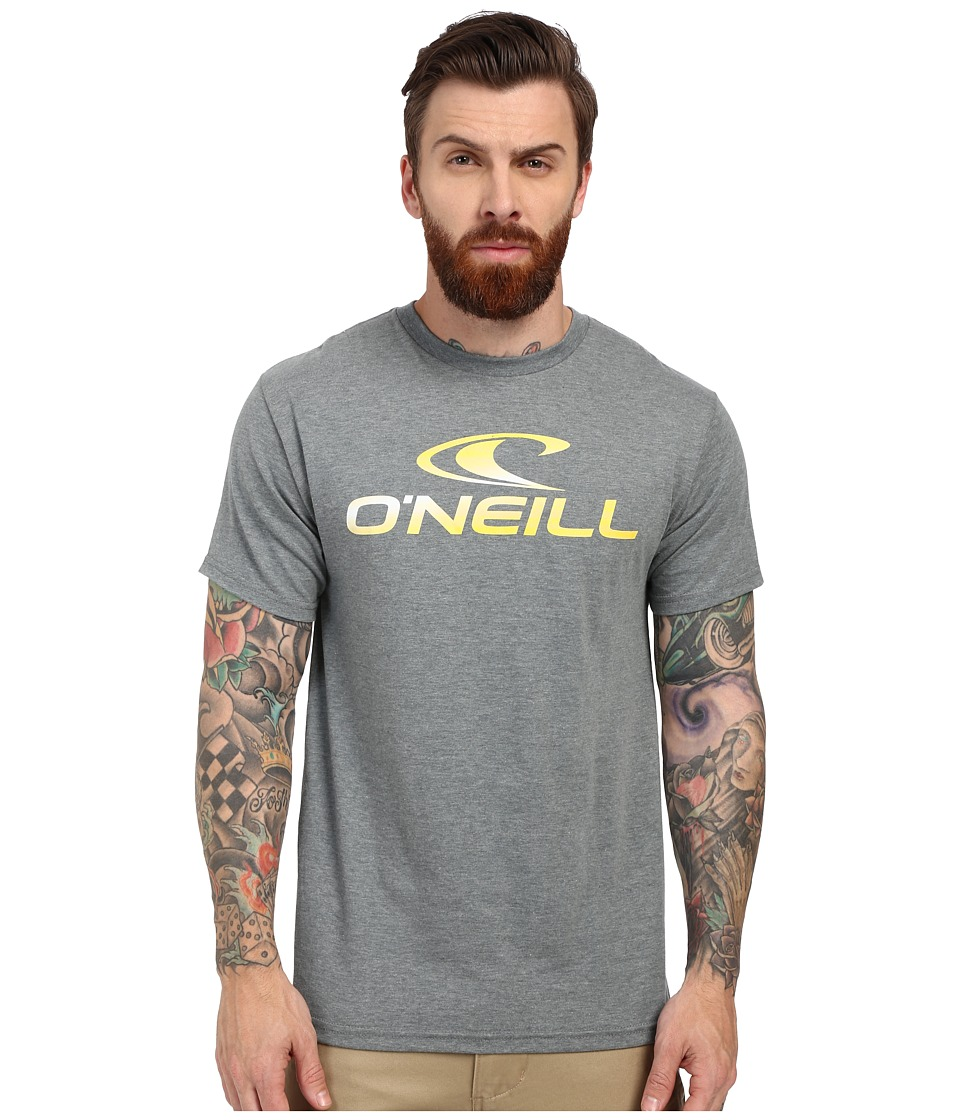O'Neill - Runner Short Sleeve Screen Tee (Medium Heather Grey) Men's Short Sleeve Pullover