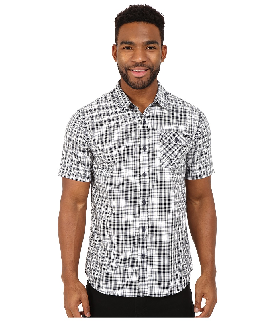 O'Neill - Emporium Check Short Sleeve Wovens (Dark Indigo) Men's Short Sleeve Button Up