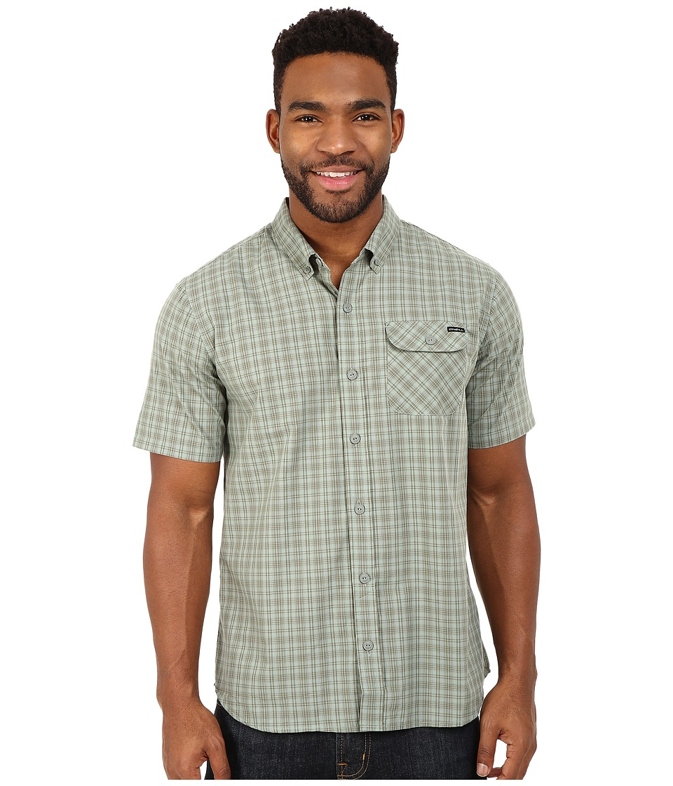 O'Neill - Emporium Check Short Sleeve Wovens (Olive) Men's Short Sleeve Button Up