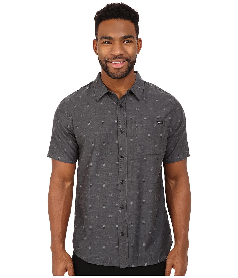 O'Neill - Brighton Short Sleeve Wovens (Black) Men's Short Sleeve Button Up