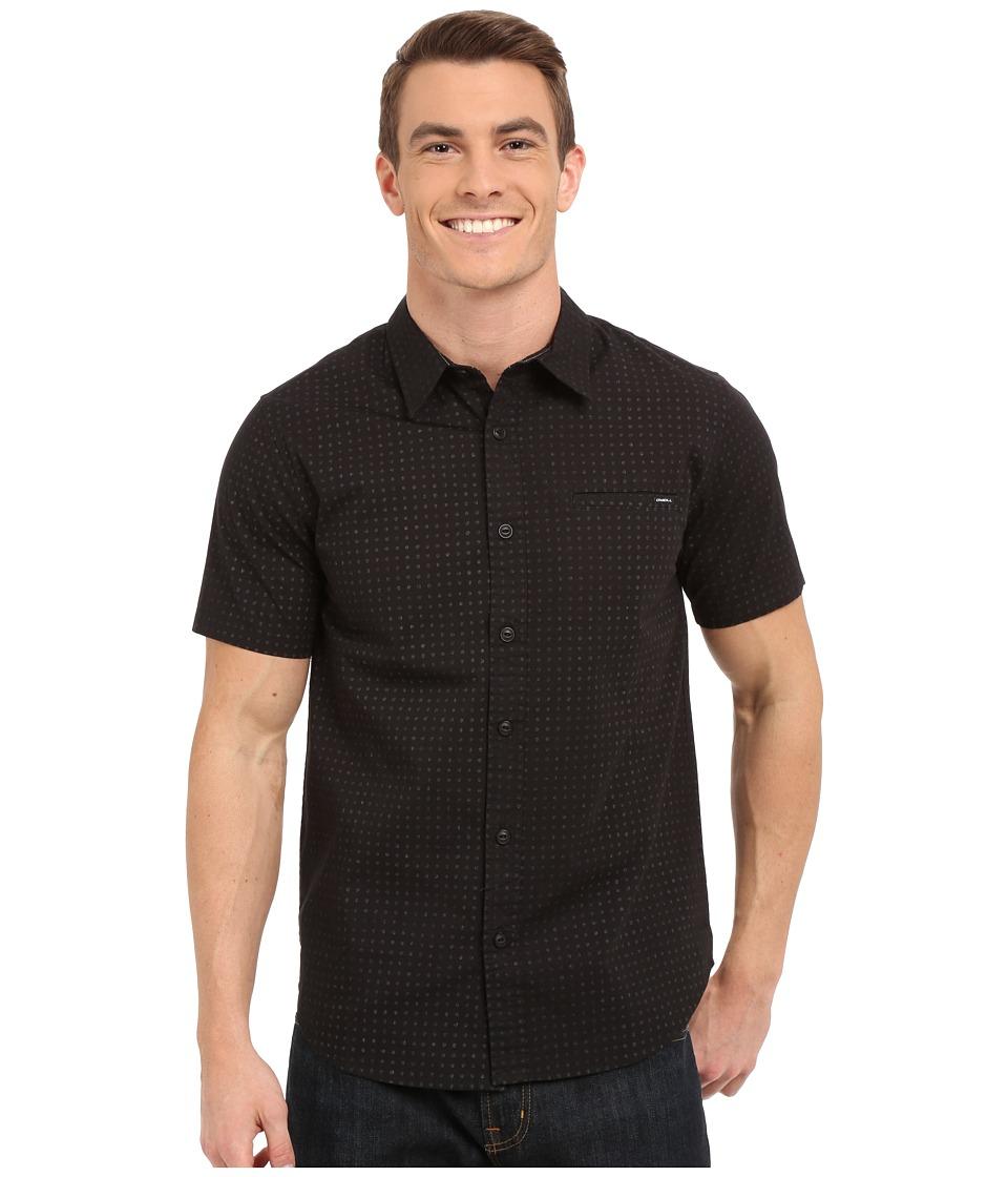 O'Neill - Inked Short Sleeve Wovens (Black) Men's Short Sleeve Button Up