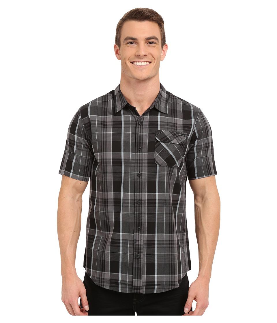 O'Neill - Emporium Plaid Short Sleeve Wovens (Black) Men's Short Sleeve Button Up