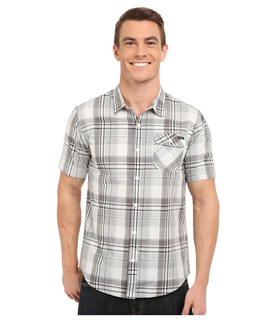 O'Neill - Emporium Plaid Short Sleeve Wovens (White) Men's Short Sleeve Button Up