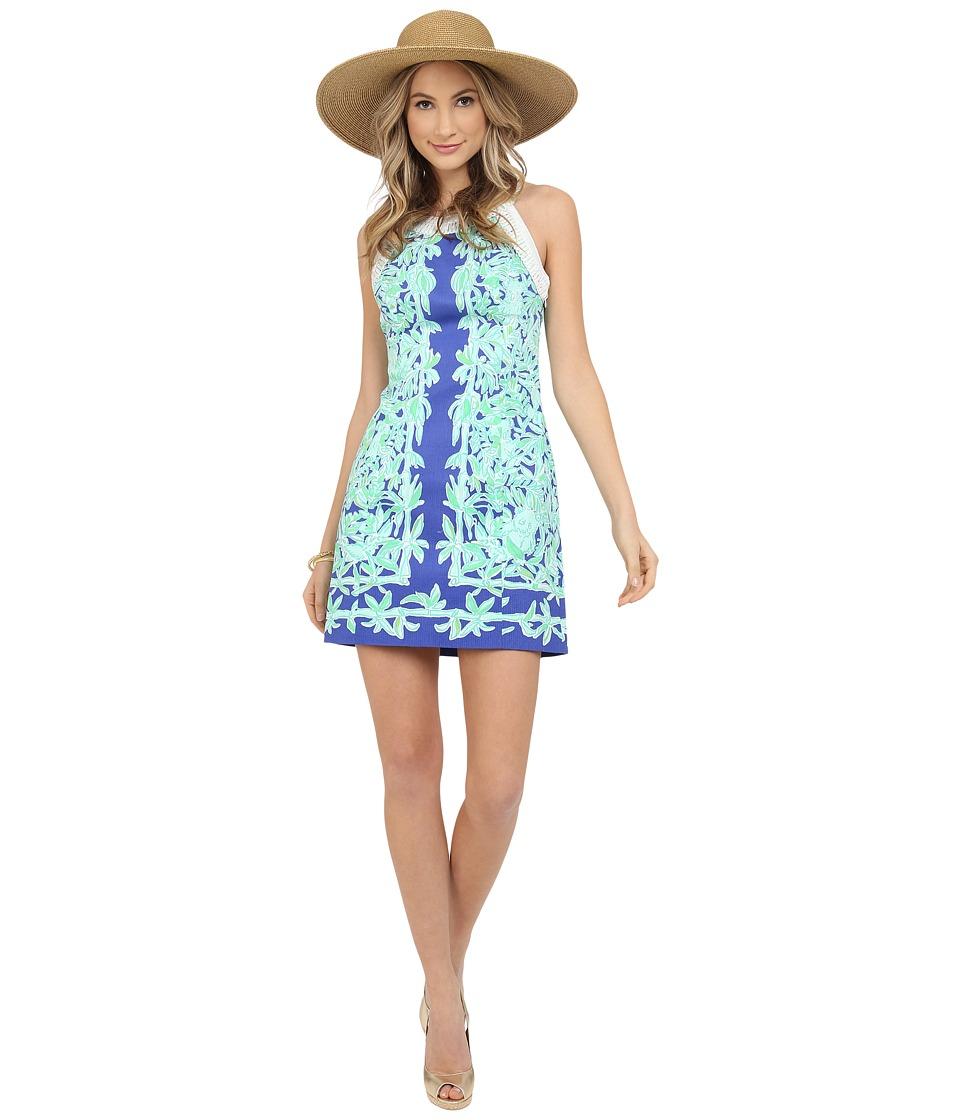 Lilly Pulitzer - Lea Shift Dress (Poolside Blue Koala of the Wild) Women's Dress