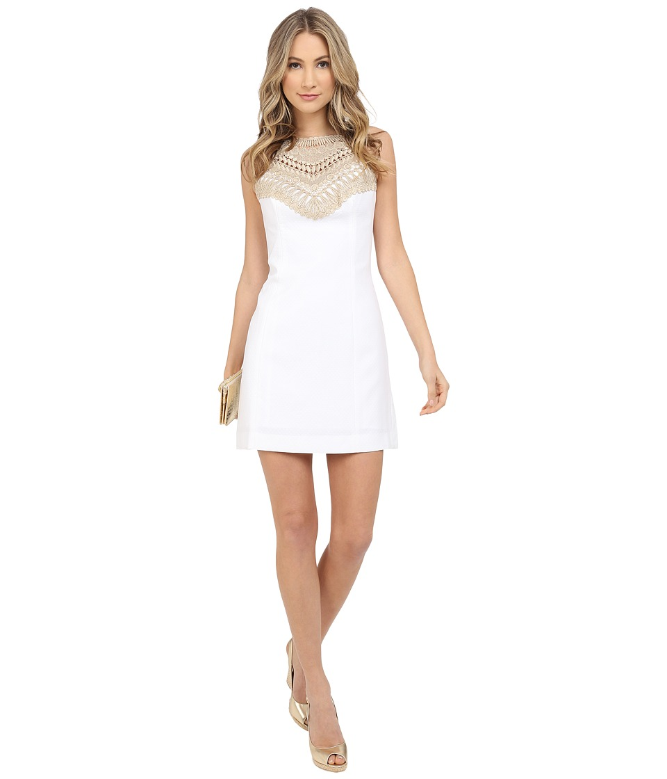 Lilly Pulitzer - Pearl Shift Dress (Resort White) Women's Dress