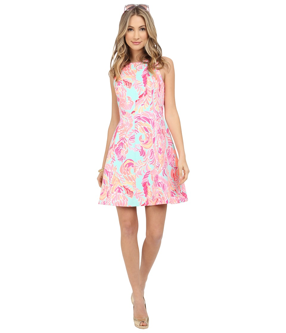 Lilly Pulitzer - Cove Dress (Poolside Blue Love Birds) Women's Dress