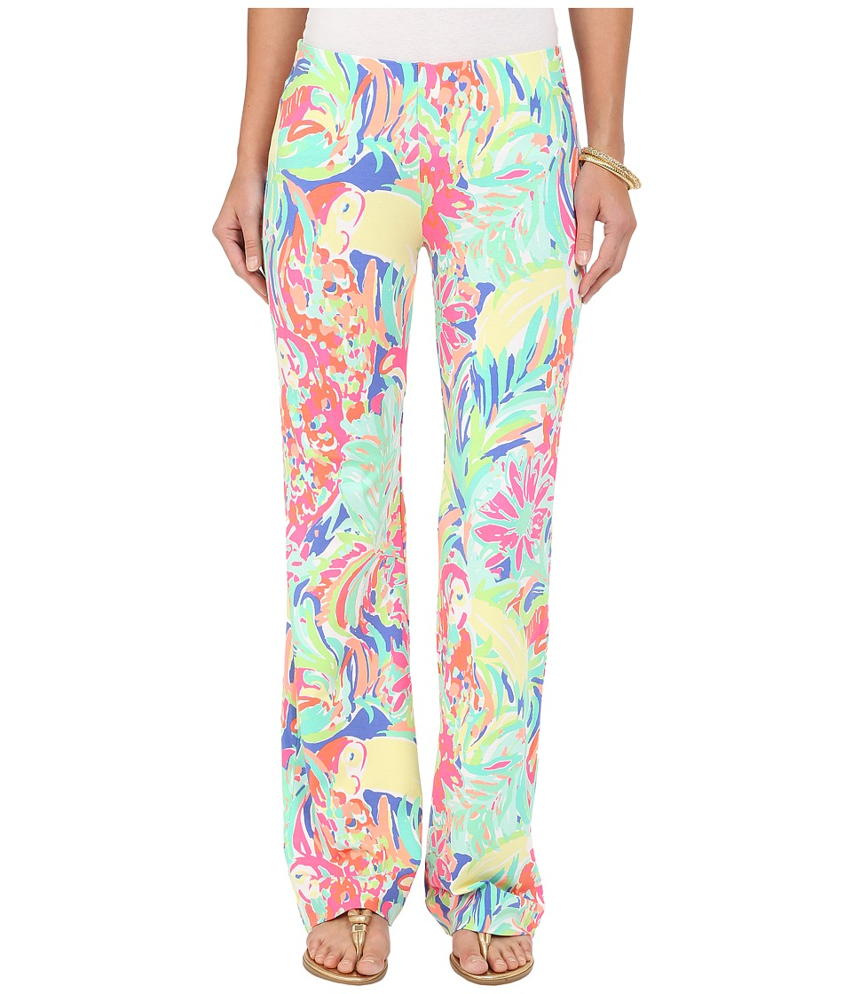 Lilly Pulitzer - Georgia May Palazzo Pants (Multi Casa Banana) Women's Casual Pants plus size,  plus size fashion plus size appare