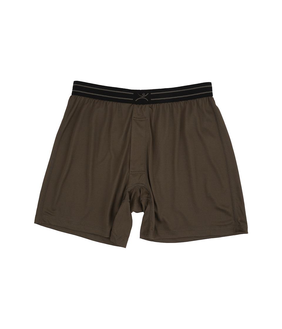 Terramar - Microcool Jersey Boxer 3 (Dark Loden) Men's Underwear