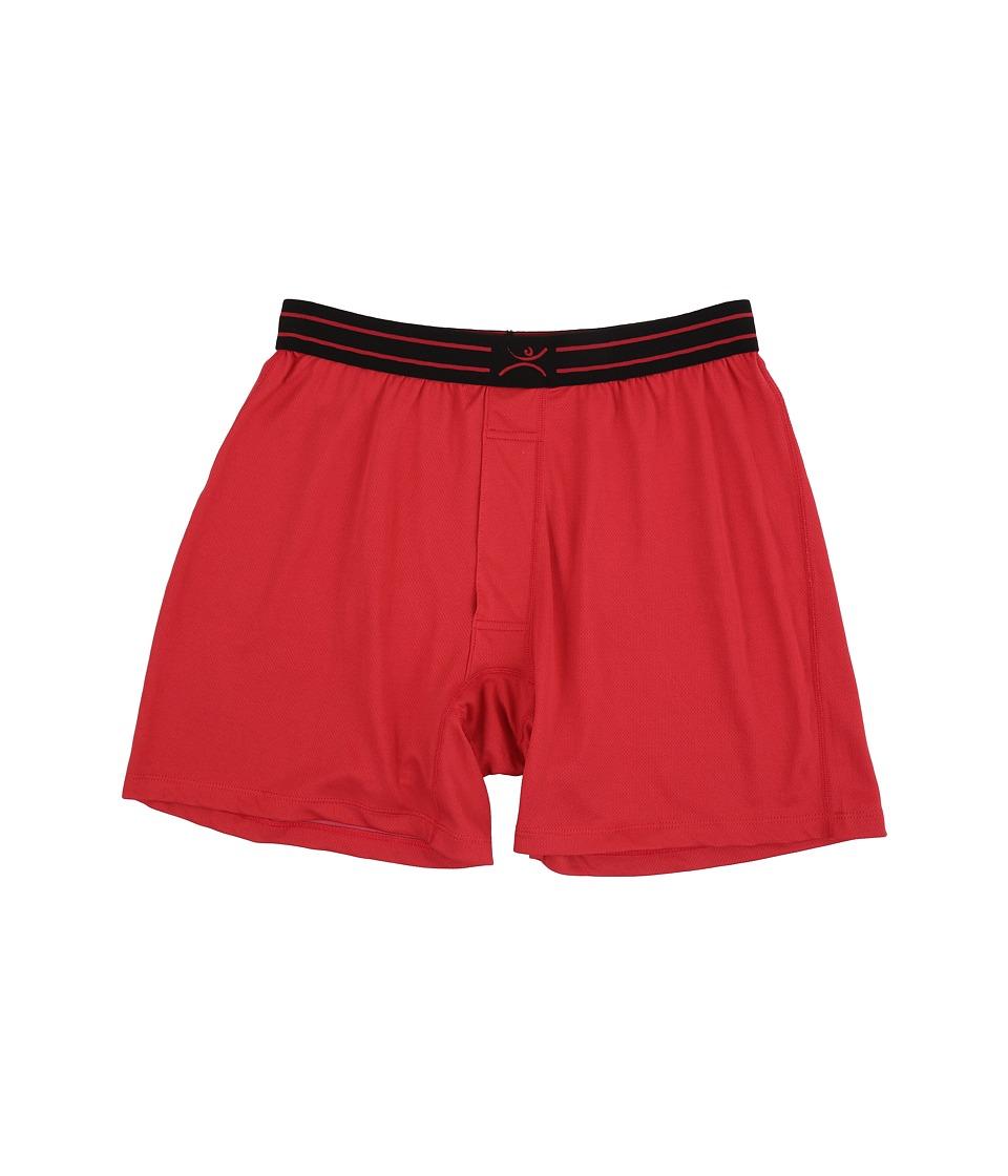Terramar - Microcool Jersey Boxer 3 (Claret) Men's Underwear