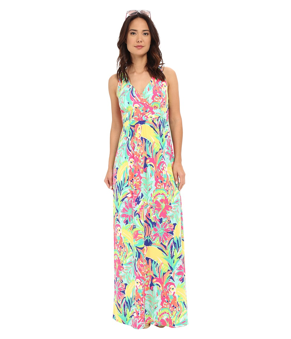 Lilly Pulitzer - Seaview Maxi Dress (Multi Casa Banana) Women's Dress