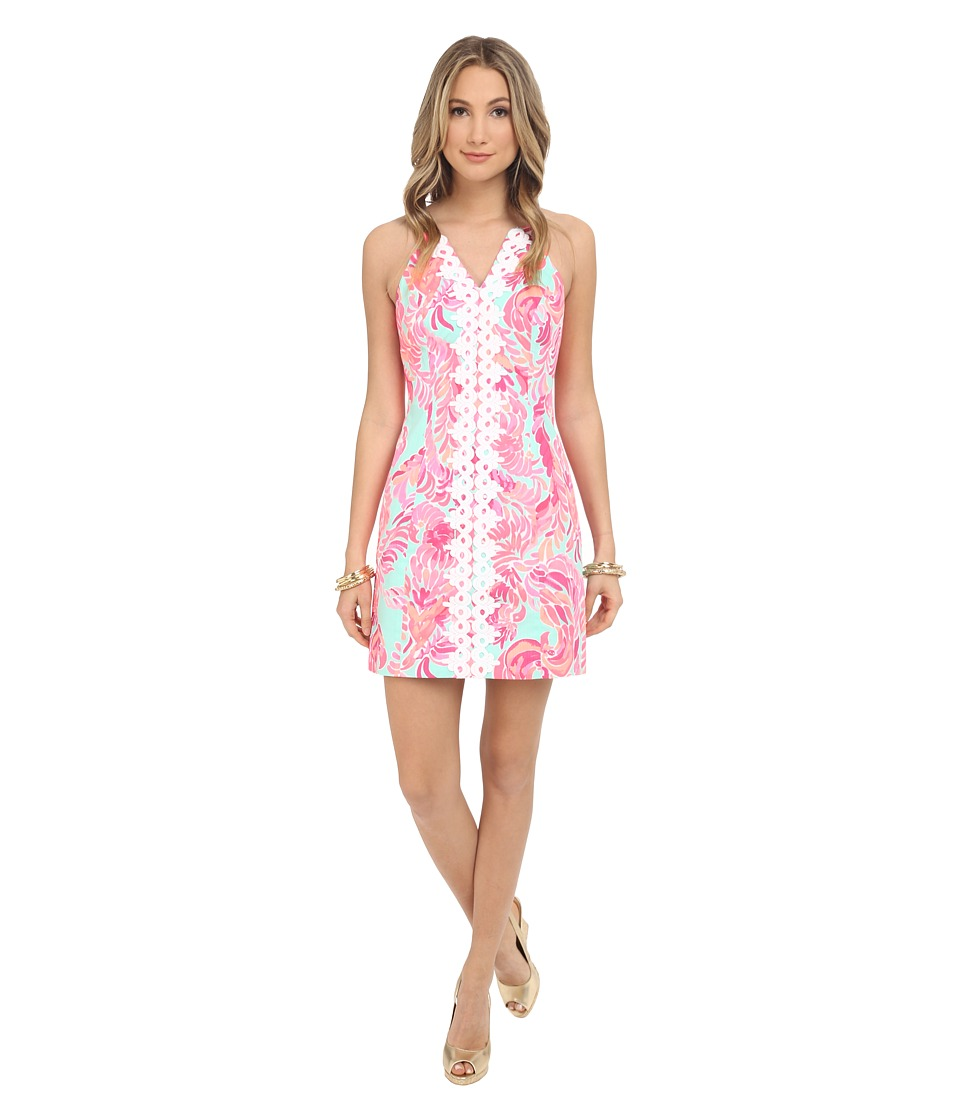 Lilly Pulitzer - Pearl Shift Dress (Poolside Blue Love Birds) Women's Dress