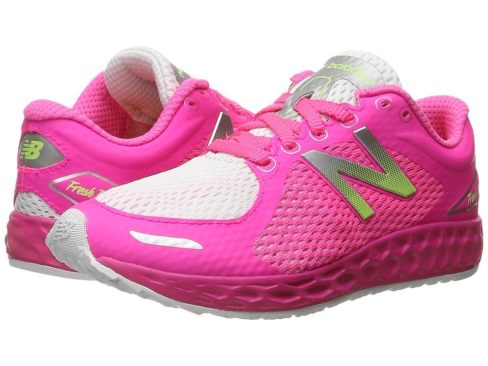 New Balance Kids Fresh Foam Zante v2 Breathe (Little Kid/Big Kid) (White/Amp) Girls Shoes