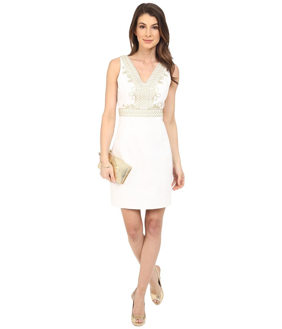 Lilly Pulitzer - Aveline Shift Dress (Resort White) Women's Dress