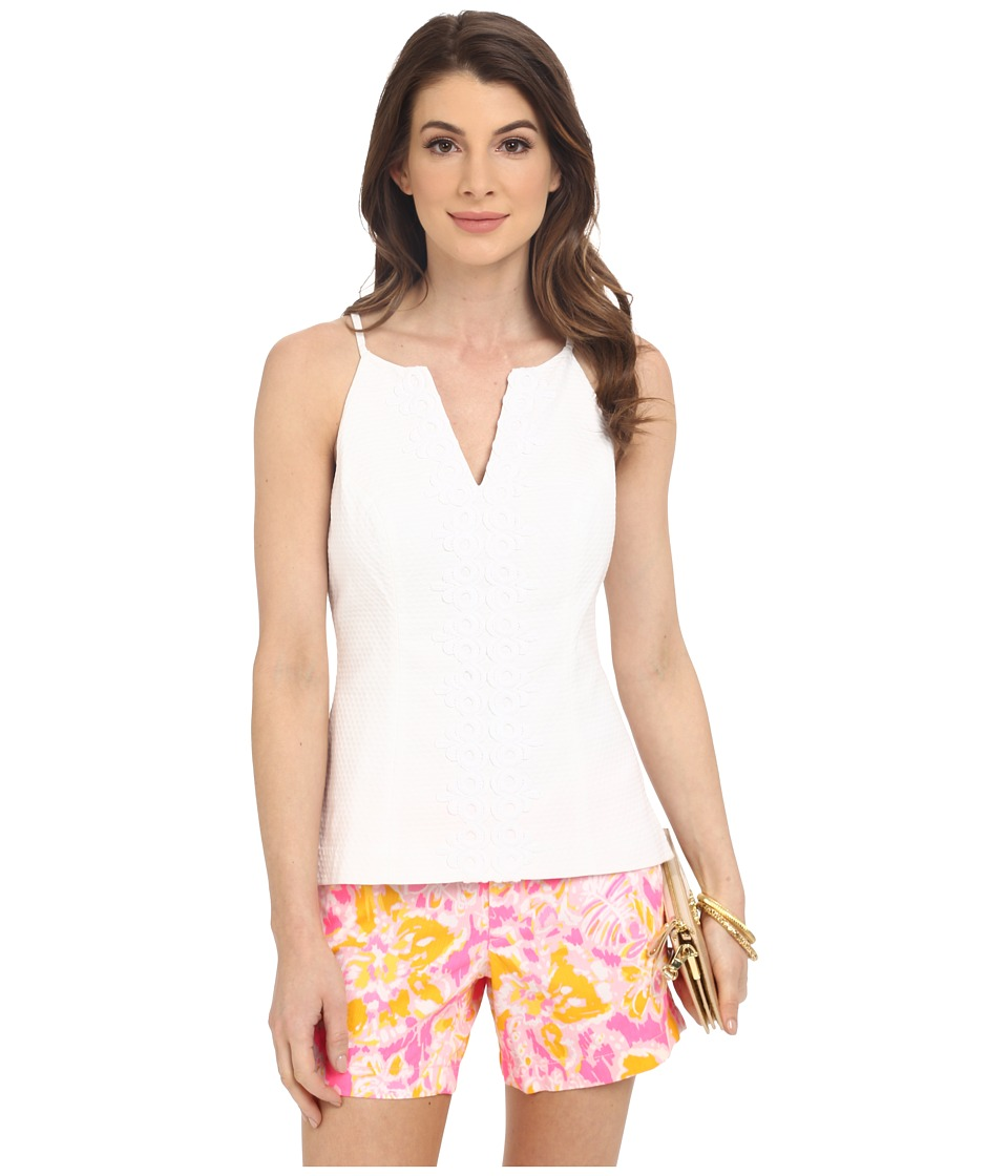 Lilly Pulitzer - Magnolia Top (Resort White) Women's Sleeveless