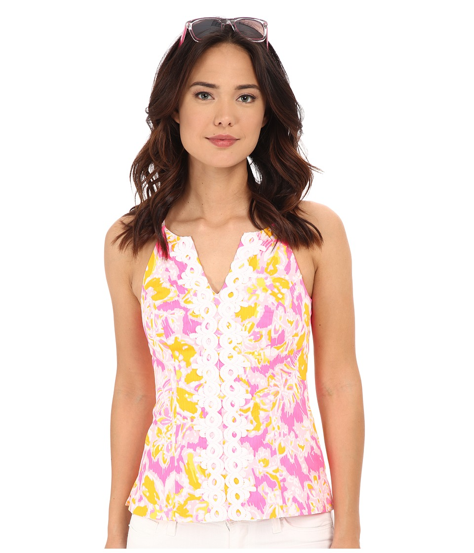 Lilly Pulitzer - Magnolia Top (Kir Royal Pink Ooh La La) Women's Sleeveless