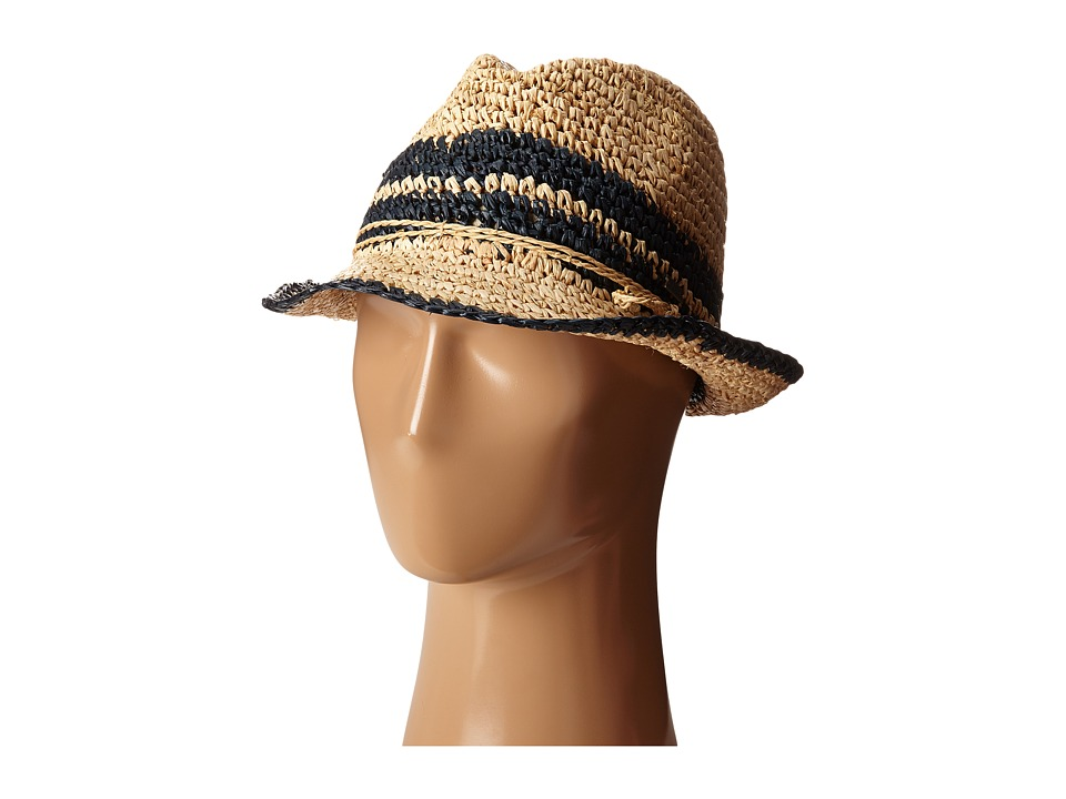 Roxy - Witching Straw Fedora (Encre) Fedora Hats