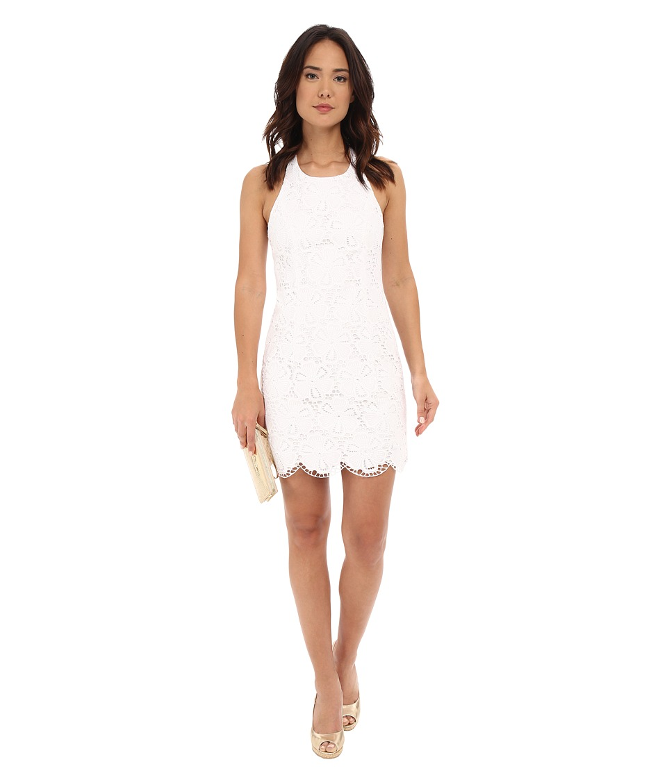 Lilly Pulitzer - Grayes Shift Dress (Resort White Dotted Blossom) Women's Dress