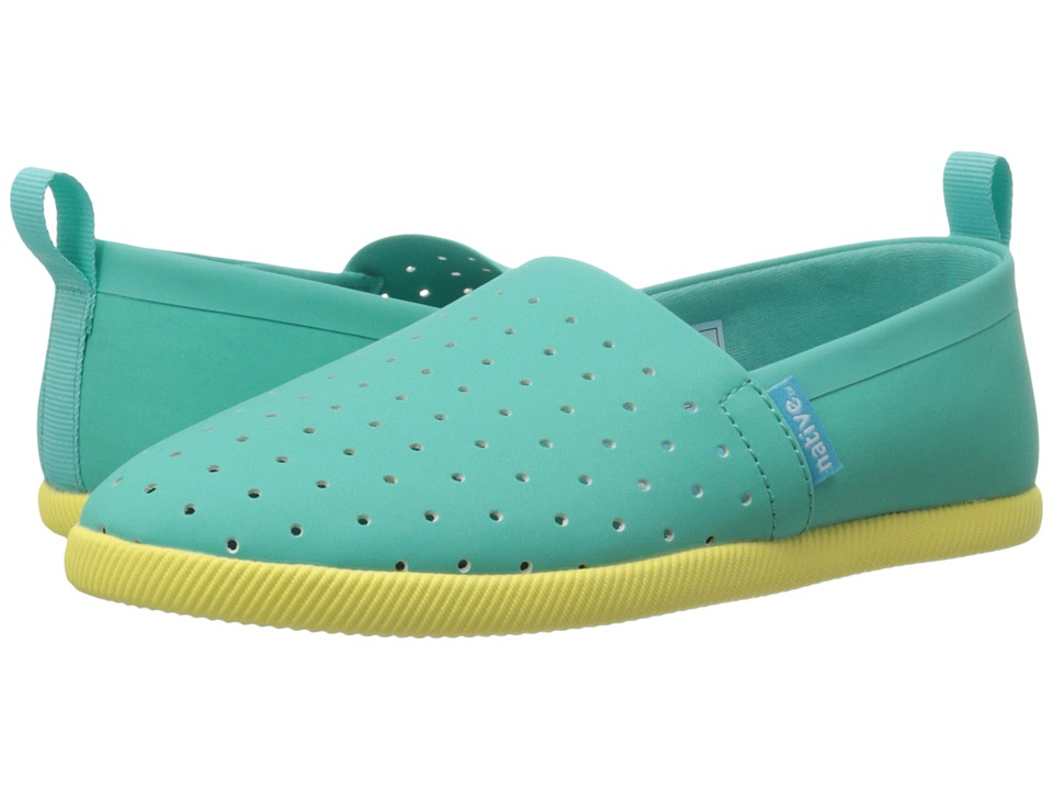 Native Kids Shoes - Venice (Little Kid) (Atlantis Blue/Custard Yellow) Kid's Shoes