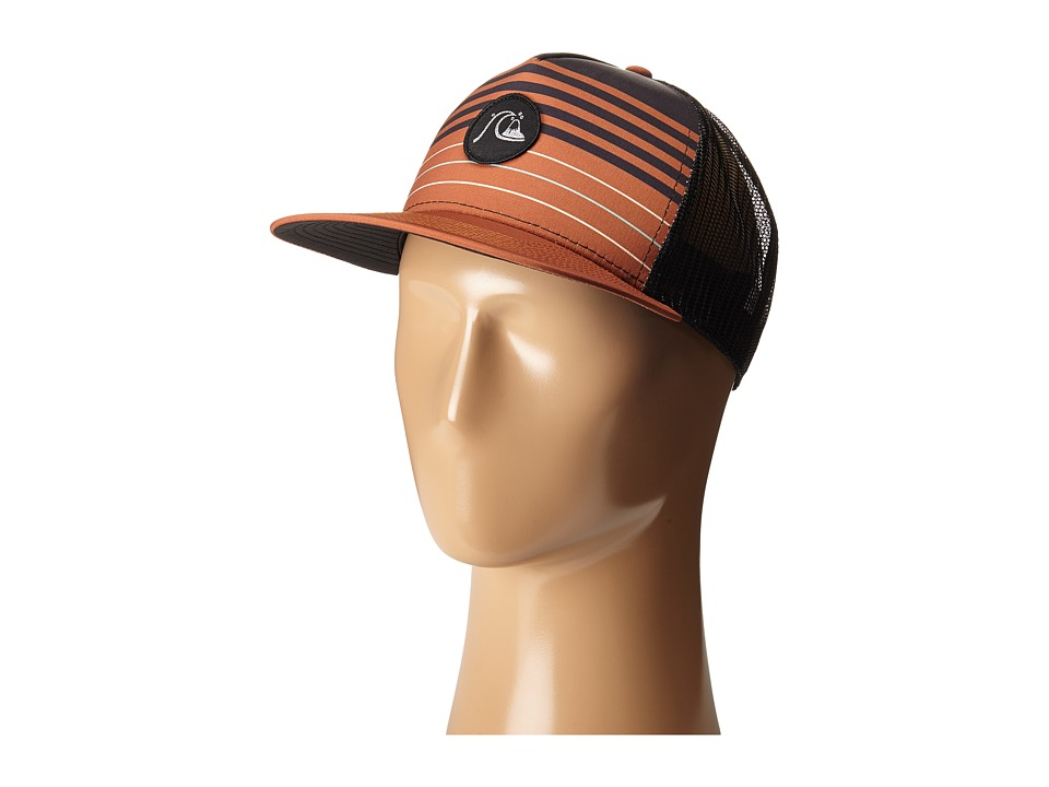 Quiksilver - Swelly Trucker Hat (Pumpkin Spice) Caps