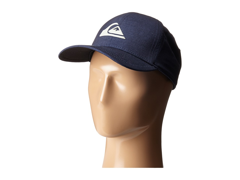 Quiksilver - AG47 M W Bonded Amphibian Hat (Navy Blazer/Red) Baseball Caps
