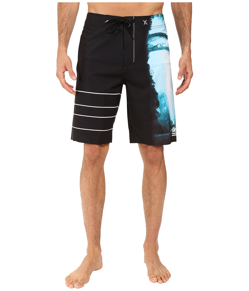Hurley - Phantom Clark Little Flow Vortex Boardshorts (Cyan) Men's Swimwear