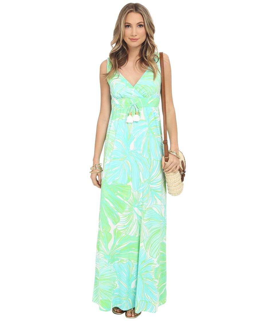 Lilly Pulitzer - Isla Maxi Dress (Green Sheen Fronds Place) Women's Dress
